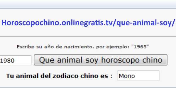 Descubre qu animal eres seg n hor scopo chino - Cual es mi signo del zodiaco ...